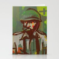 police Stationery Cards featuring Police by Steeze Abiola