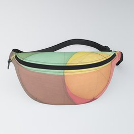 Concentric Circles Forming Equal Areas Fanny Pack