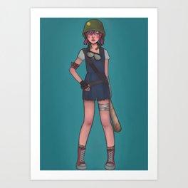 Apocalyptic Girl Art Print