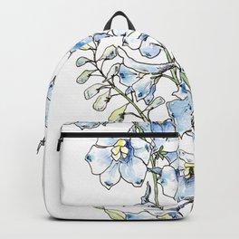 Blue Delphinium Flowers Backpack