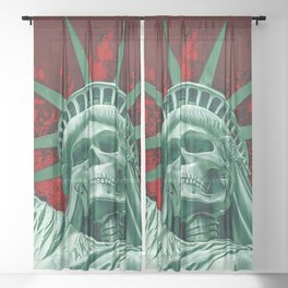 Liberty or Death Sheer Curtain