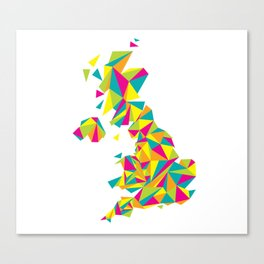 Abstract United Kingdom Bright Earth Canvas Print