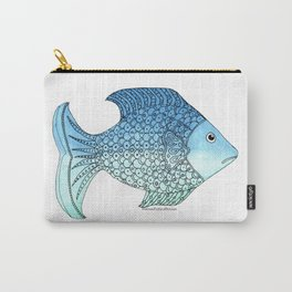 Whimsical Doodle Fish Carry-All Pouch