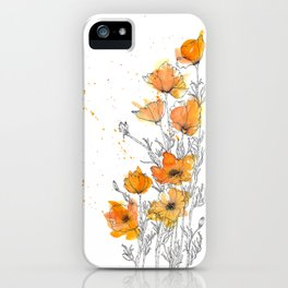 California Poppy Splash iPhone Case