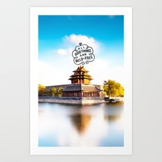 Words mode Art Print