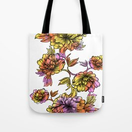 Rainbow Flowers Tote Bag