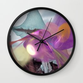 Landing on an alien world Wall Clock