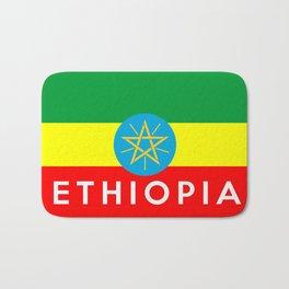 Ethiopia country flag name text Bath Mat
