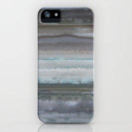 Agate Stripe Gray iPhone Case