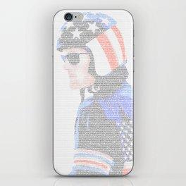 Easy Rider Screenplay Print iPhone Skin