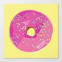 donut Canvas Prints featuring donut by Britt Mansouri