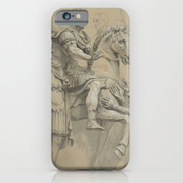 Vintage Marcus Aurelius on Horseback Illustration iPhone Case