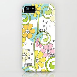 Hanging Out In The Garden With My Friends iPhone Case