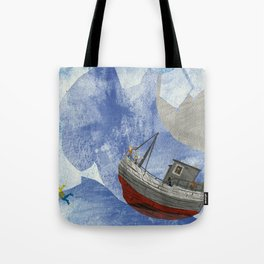 tossed to sea // jonah & the whale Tote Bag