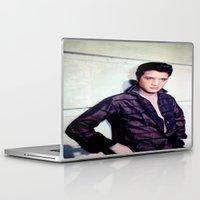 elvis presley Laptop & iPad Skins featuring Elvis Presley by Neon Monsters