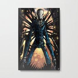 Slender Man Metal Print