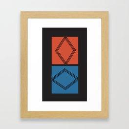 Shape and form Framed Art Print
