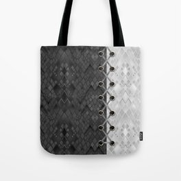 Lacing . 1 . Black and white snake. l Tote Bag