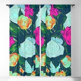Vintage roses Blackout Curtain