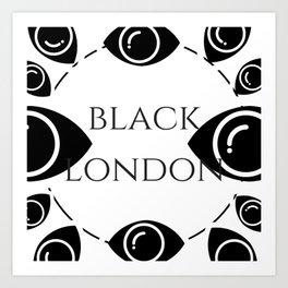 Black London Art Print