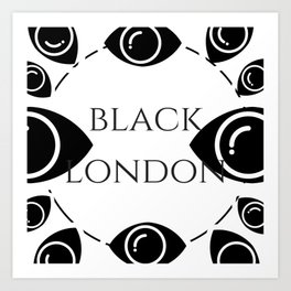 Black London Art Print