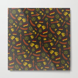German Pattern Metal Print