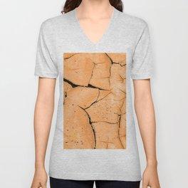 Cracked Terrain in Morocco Unisex V-Neck