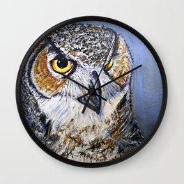 what a hoot Wall Clock