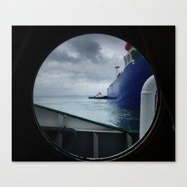 tug boat port hole Canvas Print