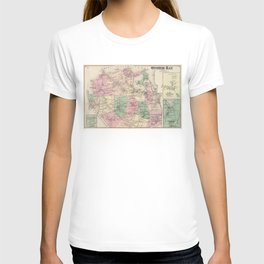 Vintage Map of Oyster Bay New York (1873) T-shirt