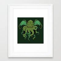 cthulhu Framed Art Prints featuring Cthulhu by missmonster