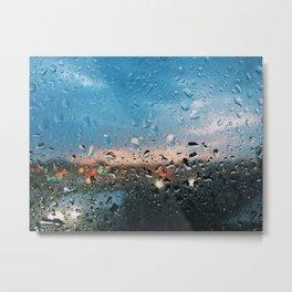 Evening Rainfall Metal Print