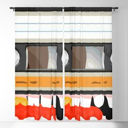 The cassette tape golden tooth Blackout Curtain