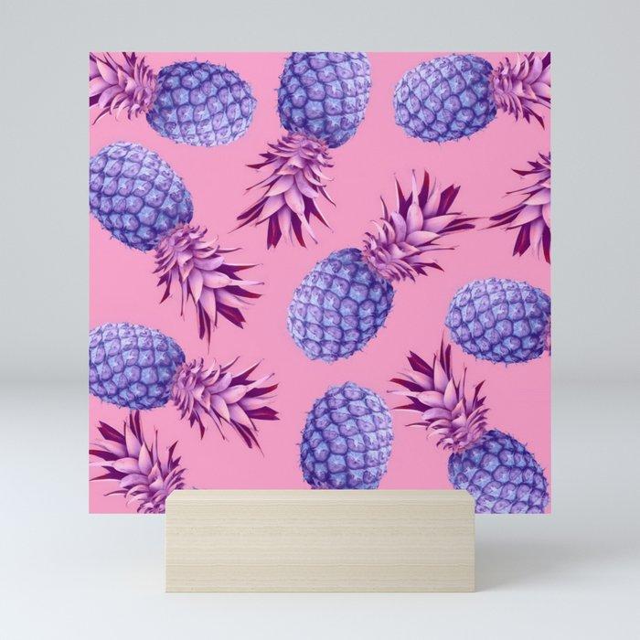 Violet pineapples Mini Art Print