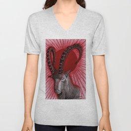 Goat blood sun Unisex V-Neck