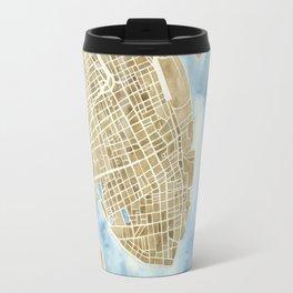 Charleston, South Carolina City Map Art Print Travel Mug