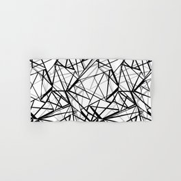 Black and white abstract geometric pattern . Hand & Bath Towel