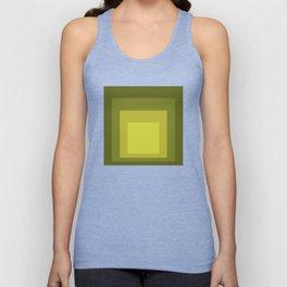 Block Colors - Yellow Green Unisex Tank Top