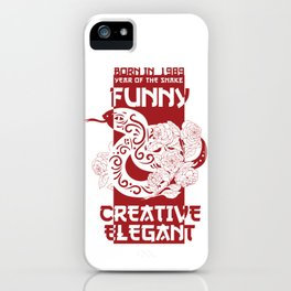 Snake Chinese Zodiac Sign Horoscope Animal iPhone Case