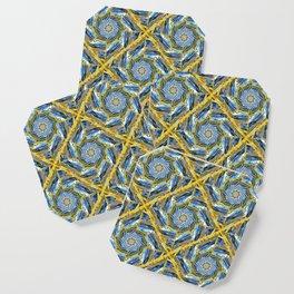 golden day kaleidoscope pattern Coaster