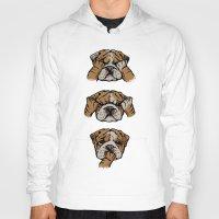 english bulldog Hoodies featuring Noevil English Bulldog by Huebucket