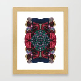 red lace - a modern, colorful collage Framed Art Print