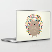 hug Laptop & iPad Skins featuring Give Me A Hug by Andy Westface
