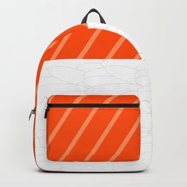 Simple Salmon Sushi Backpack