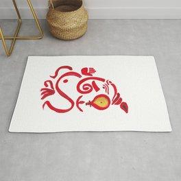 Lord Ganesha abstract painting | Lord Ganesha | Elephant god abstract painting Art Rug