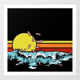 Offshore accounts Art Print