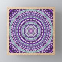 Iris Passion Mandala Framed Mini Art Print