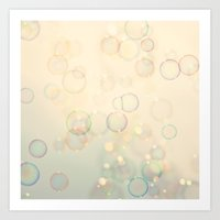 bubbles Art Prints featuring Bubbles  by Laura Ruth