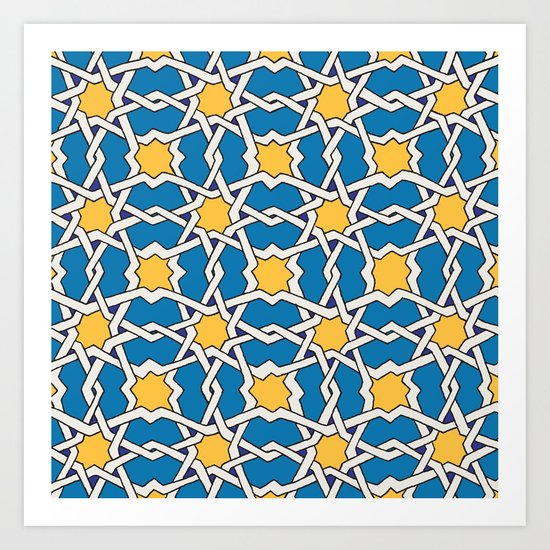 Morocco ornament Art Print