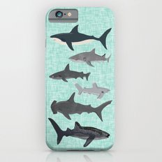 Sharks nature animal illustration texture print marine biologist sea life ocean Andrea Lauren iPhone 6s Slim Case